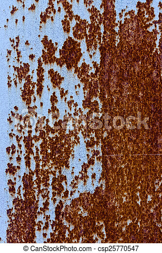 acier, plaque, rouillé - csp25770547