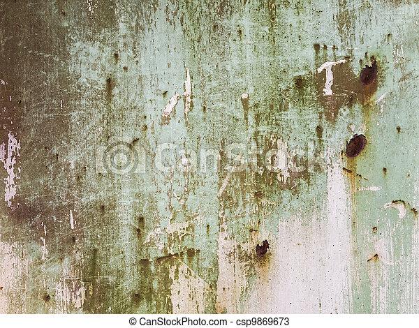 acier, plaque, rouillé - csp9869673