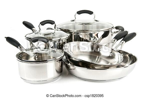 acier, sans tache, pots, casseroles - csp1820395