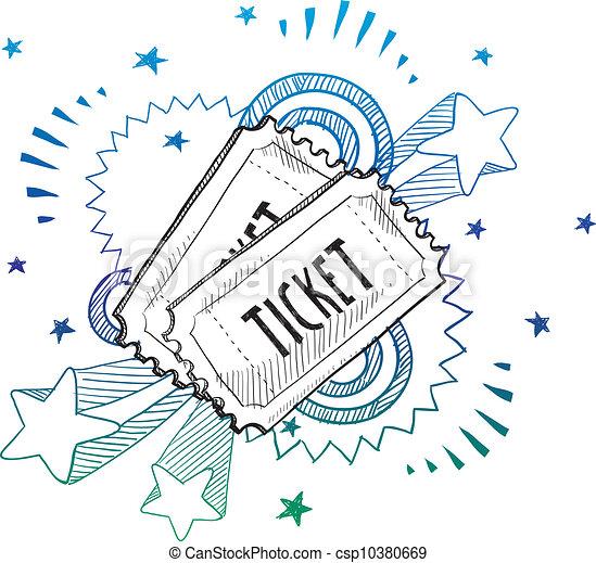 Boleto de entradas para el evento - csp10380669