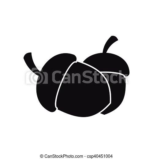 Acorn icon in simple style - csp40451004