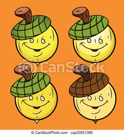 Acorn Smiley Set - csp33931388