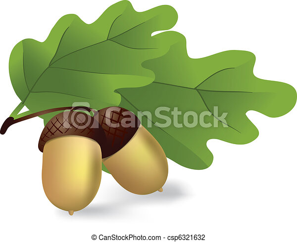 Leaves and Acorns Clip Art