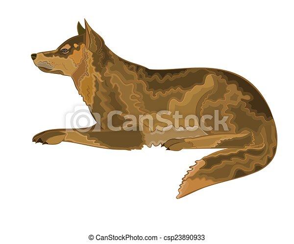 Ilustración de vector de perro mentiroso - csp23890933