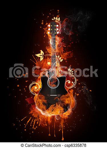 Acoustic - Electric Guitar - csp6335878