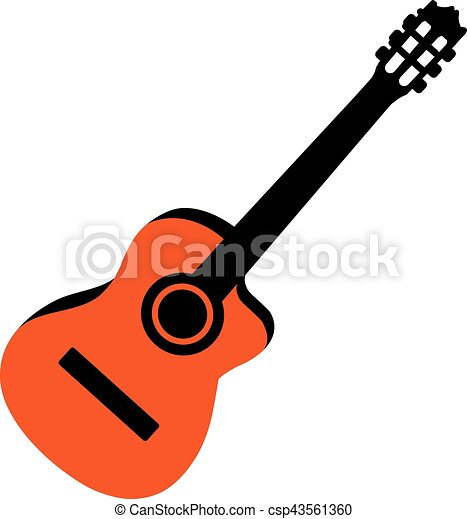 acoustic guitar rh canstockphoto com Guitar Drawings Clip Art acoustic guitar clip art logos