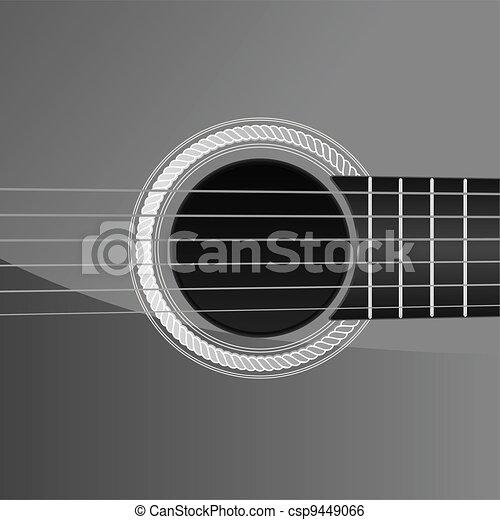 acoustic guitar detail - csp9449066
