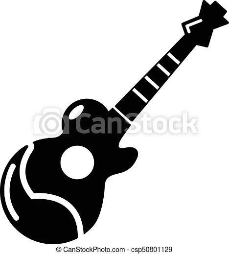 Acoustic Guitar Icon Simple Style Acoustic Guitar Icon Simple