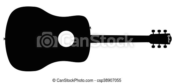 Acoustic Guitar Silhouette - csp38907055