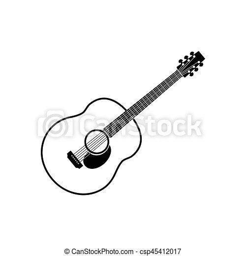 acoustic guitar vector icon rh canstockphoto com acoustic guitar vector silhouette acoustic guitar vector art