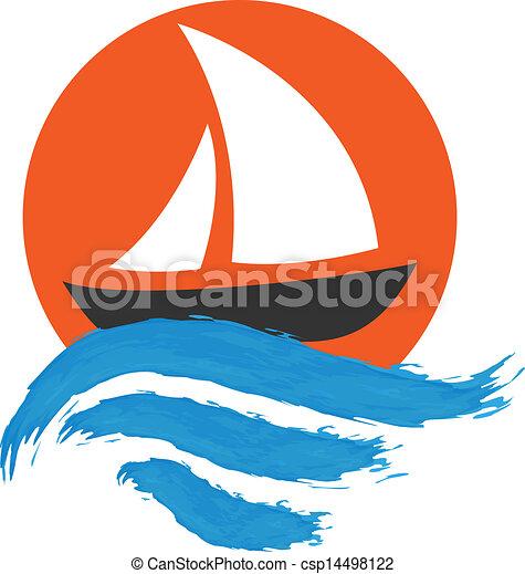 acqua, barca naviga - csp14498122
