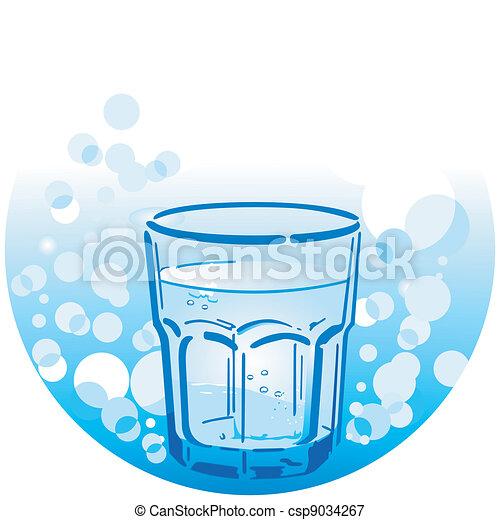 acqua, bere, pulito - csp9034267