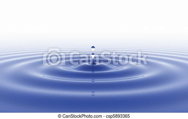 acqua, bianco, goccia, fondo - csp5893365