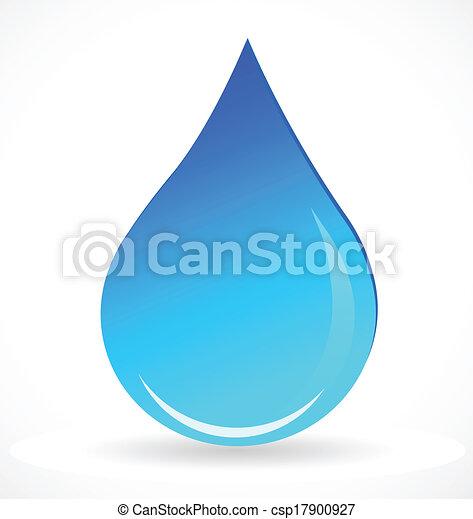 acqua blu, goccia, vettore, logotipo - csp17900927