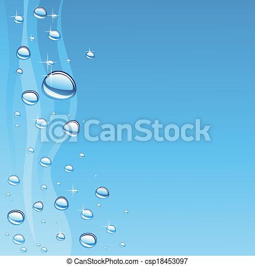 acqua, bolle, onda - csp18453097