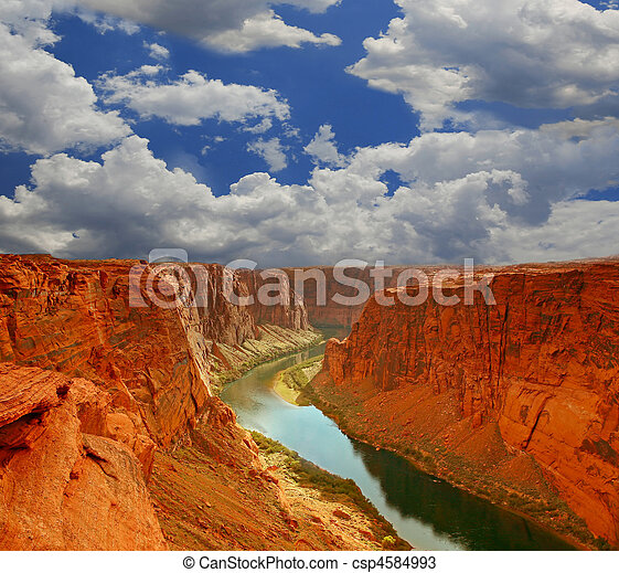acqua, canyon, inizio, grande - csp4584993