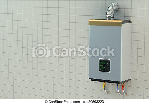 Acqua, Casa, Caldaia, Riscaldatore A Gas   Csp30593223