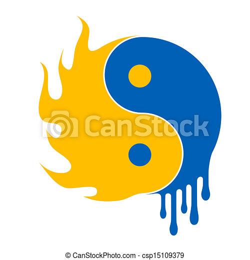 acqua fuoco - csp15109379