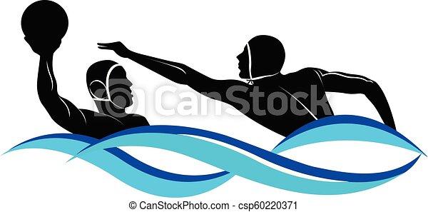 acqua, logotipo, polo - csp60220371