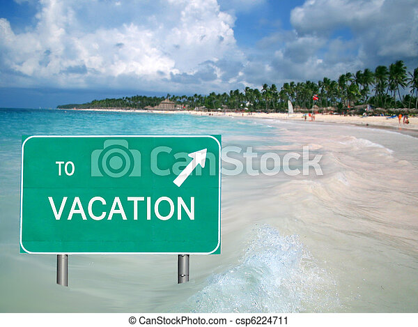 acqua, vacanza tropicale, segno - csp6224711