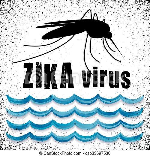 acqua, zika, standing, virus, zanzara - csp33697530