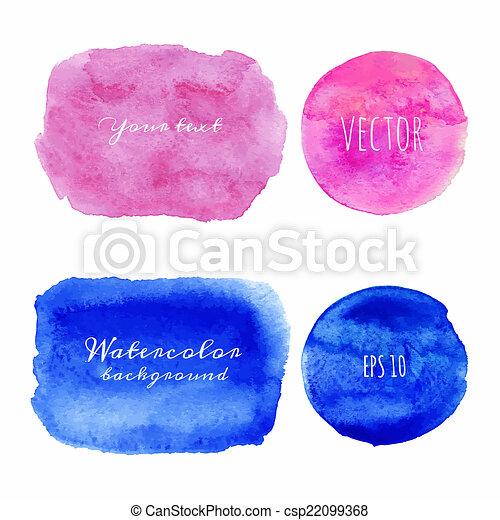 acquarello, bagnato, painted., mano, backgrounds. - csp22099368