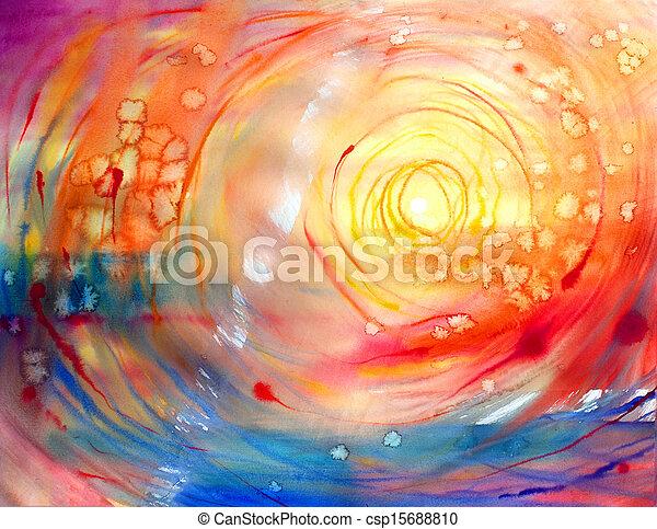 acquarello, dipinto, astratto, immagine - csp15688810