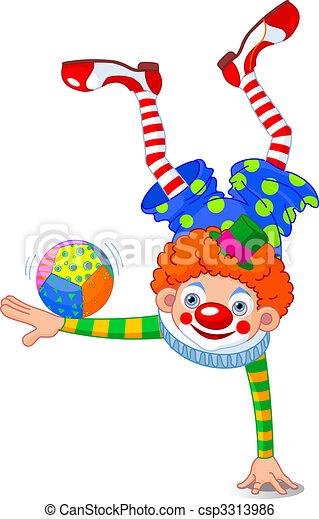 Acrobat Clown - csp3313986