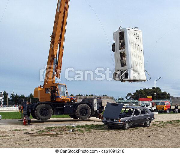 acrobatie, démolition - csp1091216