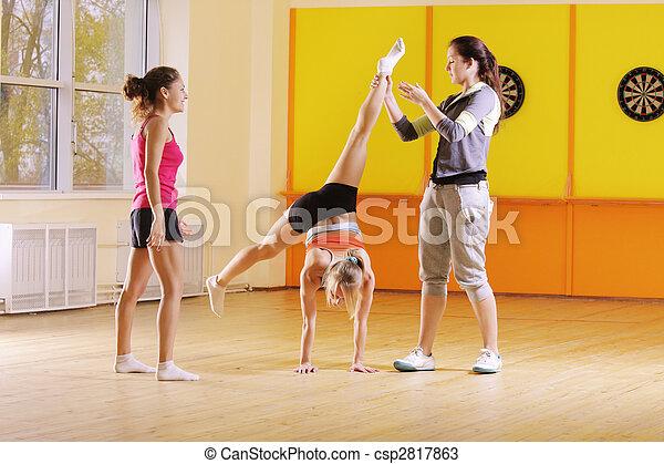 Acrobats in gym - csp2817863