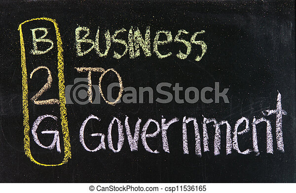 Acronym of B2G - Business to government - csp11536165