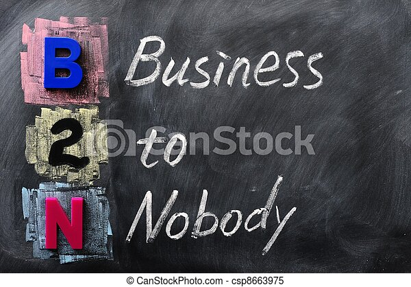 Acronym of B2N - Business to Nobody - csp8663975