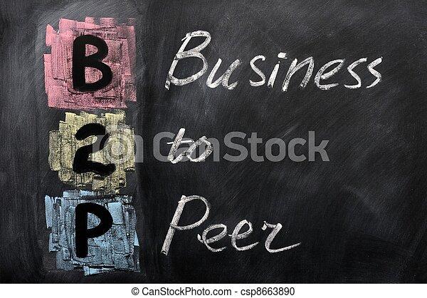 acronyme, pair, -, business, b2p - csp8663890