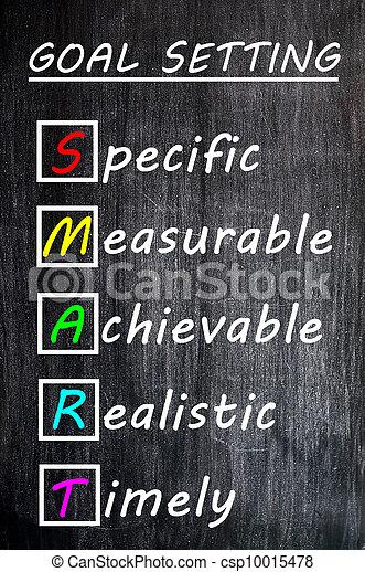 acronyme, tableau noir, craie, buts, dessin, intelligent - csp10015478