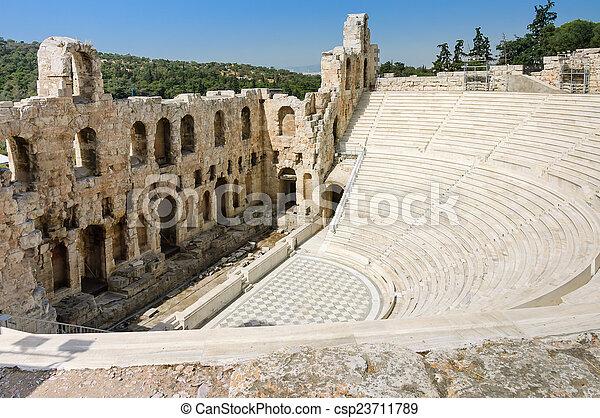 Acropolis Odeon amphitheater - csp23711789