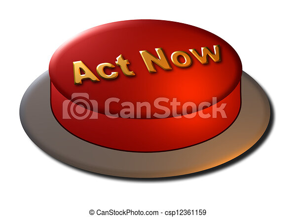 Act Now Button - csp12361159