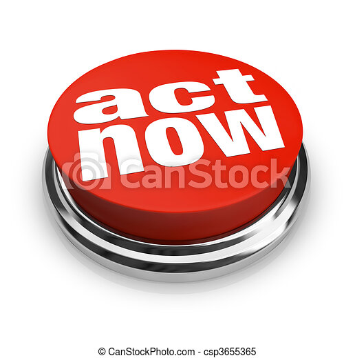 Act Now - Red Button - csp3655365