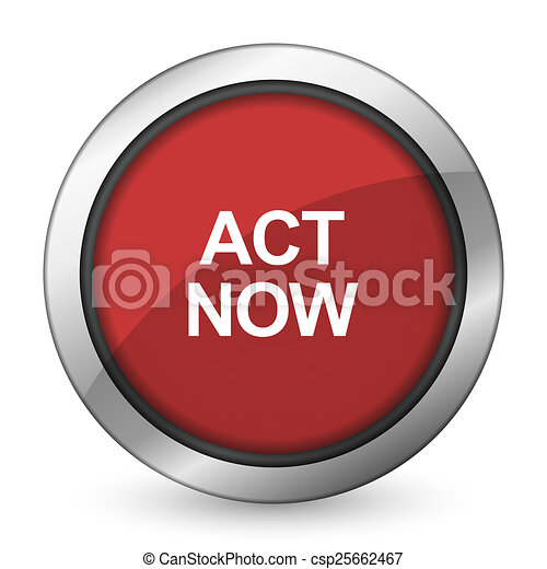 act now red icon  - csp25662467