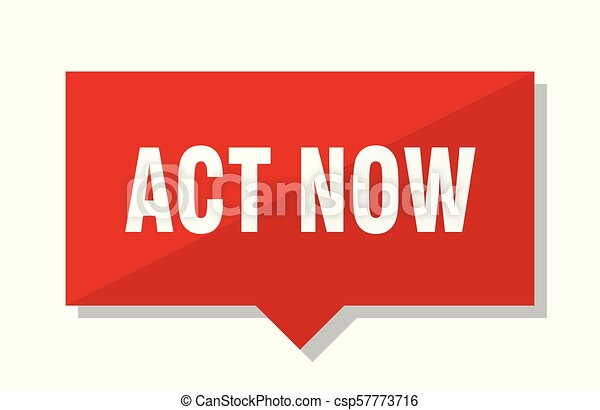 act now red tag - csp57773716