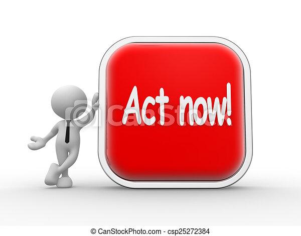 Act now! - csp25272384