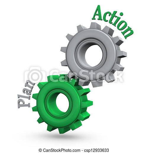 actie, toestellen, plan - csp12933633