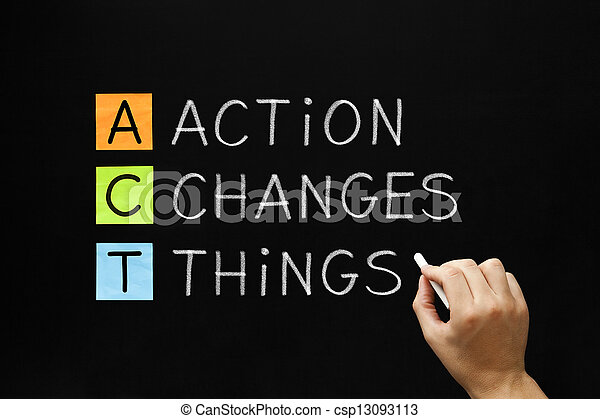 Action Changes Things Acronym - csp13093113
