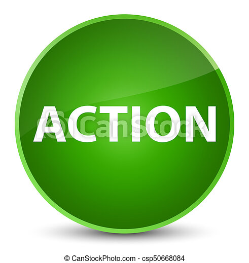 Action elegant green round button - csp50668084