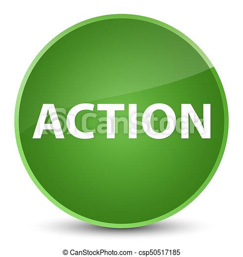 Action elegant soft green round button - csp50517185