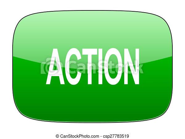 action green icon - csp27783519