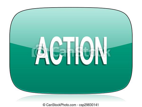 action green icon - csp29830141