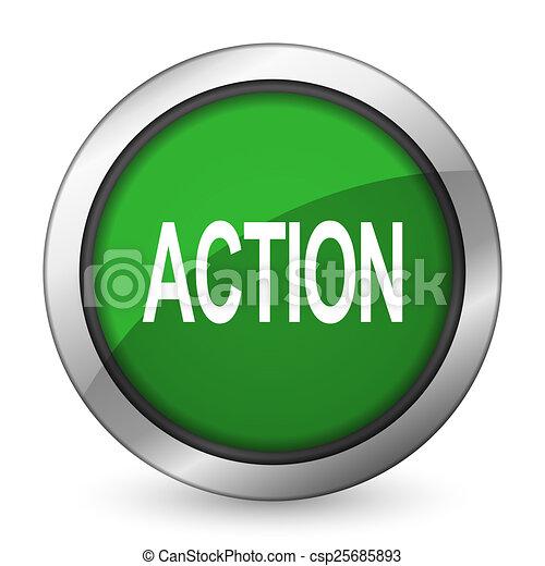 action green icon - csp25685893