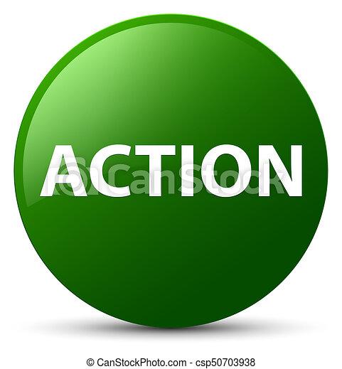 Action green round button - csp50703938
