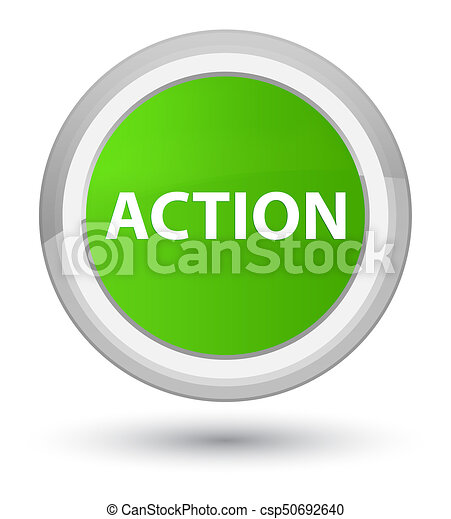 Action prime soft green round button - csp50692640