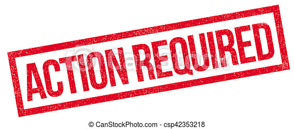 Action Required rubber stamp - csp42353218